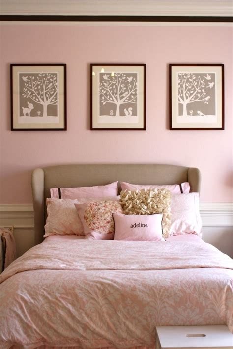 pink and brown girls bedroom with gray tufted beds quot big girl room quot in pink project nursery