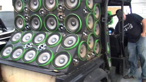 worlds loudest atv dad subwoofers  soundstream pro audio youtube