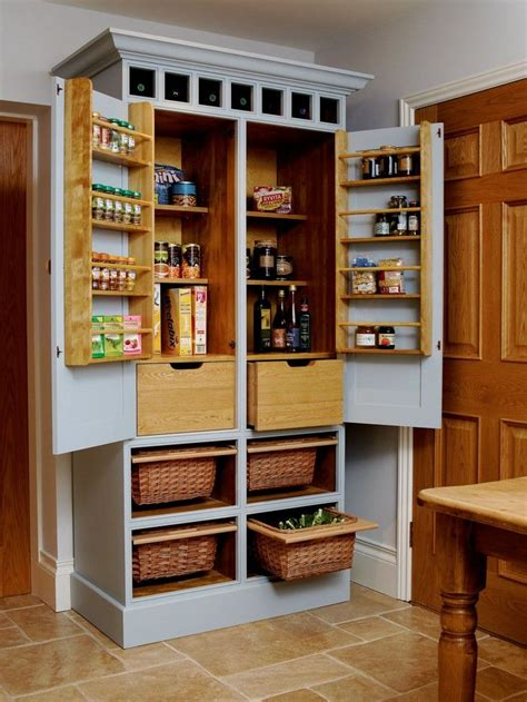 Free Standing Kitchen Pantry Cabinet Plans Build A Freestanding Pantry Standing Kitchen Kitchen Pantries And Pantry