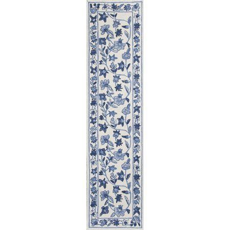 colonial area rugs kas rugs colonial ivory blue floral area rug walmart