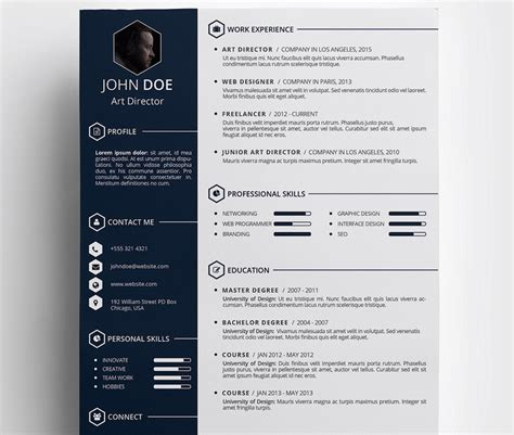 Creative Resume Template Free by Free Creative Resum 233 Template By Daniel T E M