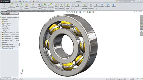 solidworks tutorial assembly drawing solidworks tutorial design and assembly of ball bearing