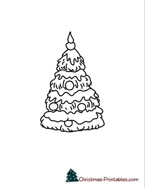 christmas tree glyph printable christmas tree printable coloring home