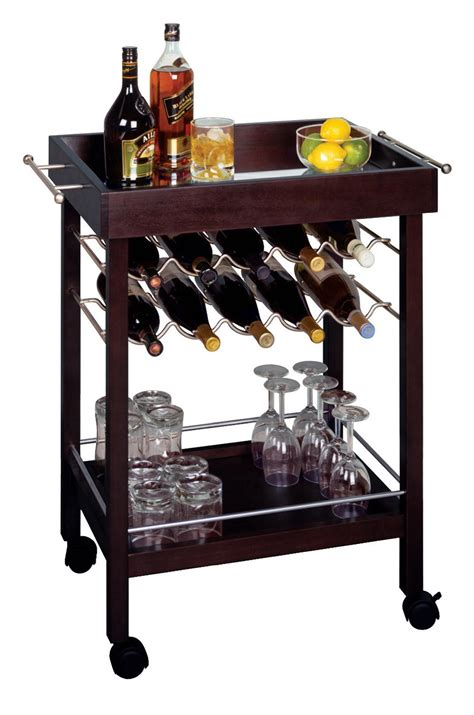 Small Home Bar Cart New Mini Bar Cart Mirror Top Wine Rack Rolling Bar Cart