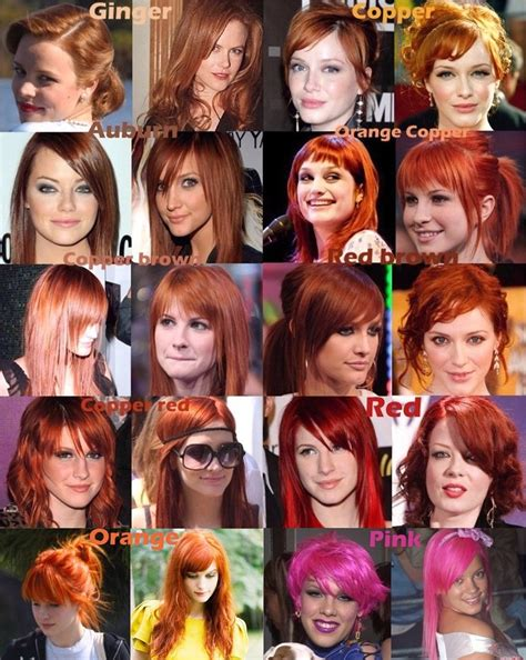 ginger hair chart red hair color chart this is why i sigh when people say