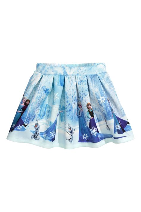 Frozon Hm 7y Sale scuba look skirt light blue frozen sale h m us