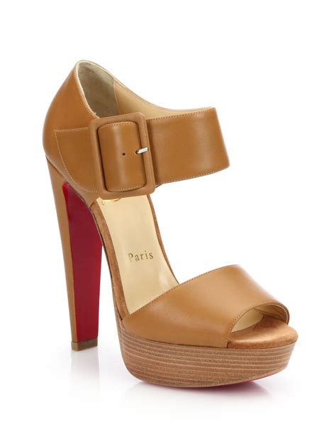 christian louboutin sandals christian louboutin haute retenue leather platform sandals