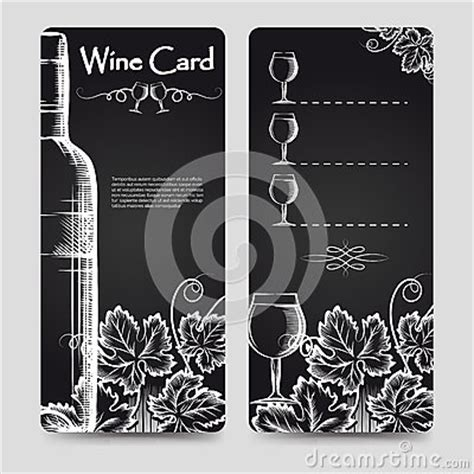 Wine Bottle Card Template by Wine Card Menu Flyers Template Stock Vector Image 76090778