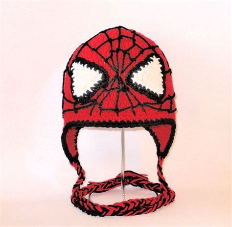 knitting pattern for spiderman hat spiderman hat knitting and crochet projects pinterest