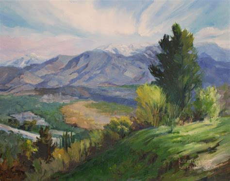 Landscape Artists In Canada La Canada Angeles Crest Landscape Painting