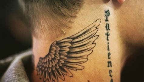 justin bieber wing tattoo justin bieber of www imgkid the image