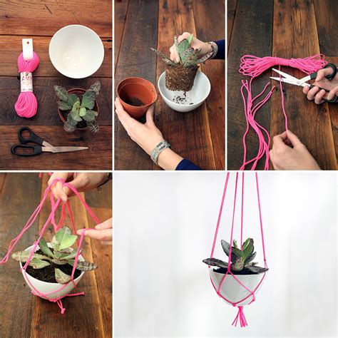 diy hanging plant pot how to make hanging plant holder diy crafts handimania