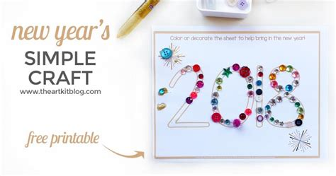 easy new year craft simple new year s craft for free printable the