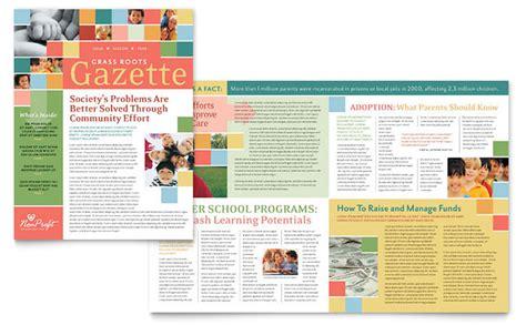 charity newsletter template non profit association for children newsletter template design