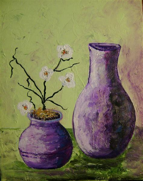 purple vases painting by patsi stafford