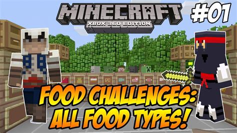 minecraft xbox 360 challenges minecraft xbox 360 quot food challenges quot all food types