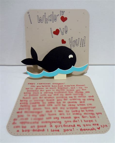 Handmade Cards For Boyfriend - handmade card for boyfriend silly hammy