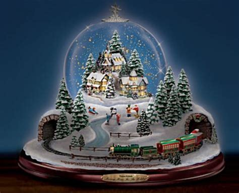 rotating train snow globe kinkade snow globe with rotating