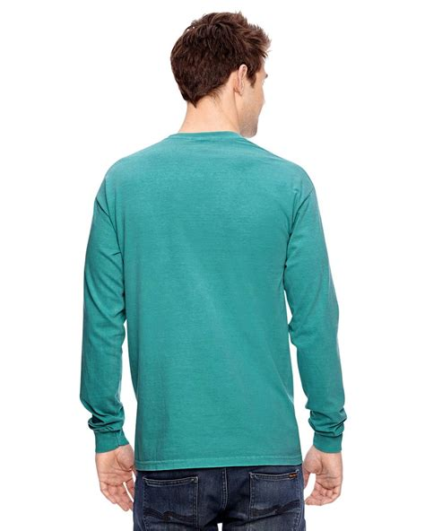 comfort colors long sleeve pocket t shirts c4410 tee shirt comfort colors chouinard long sleeve