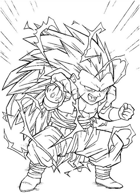 dragon ball z fusion coloring pages fusion gotenks super saiyan 3 form in dragon ball z