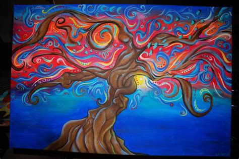 Wildtree Abstract Tree Painting With A Twist By