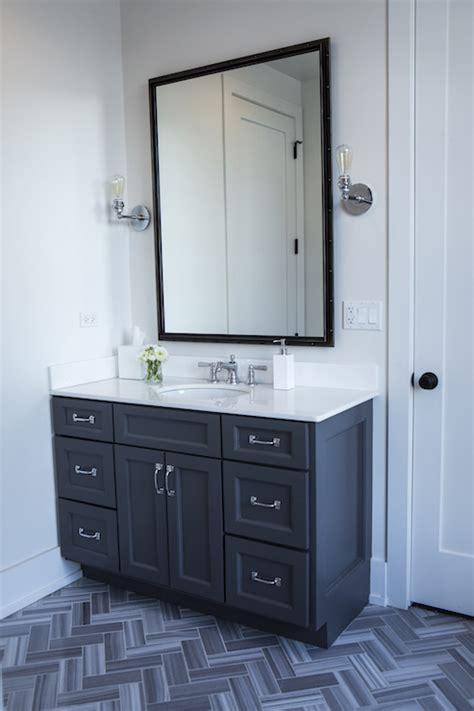 Dark Gray Bathroom Vanity   Contemporary   Bathroom