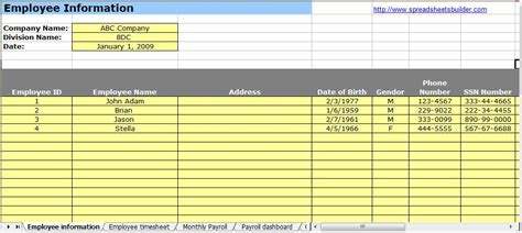 payroll spreadsheet template free human resource payroll spreadsheet templates
