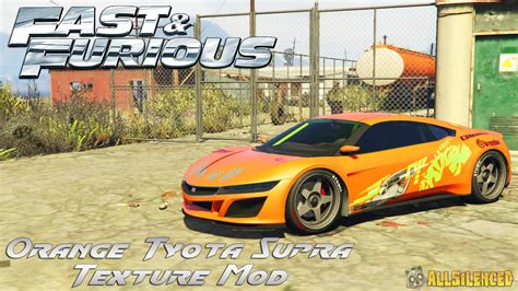 fast and furious gta 5 fast and furious orange toyota supra texture mod gta5