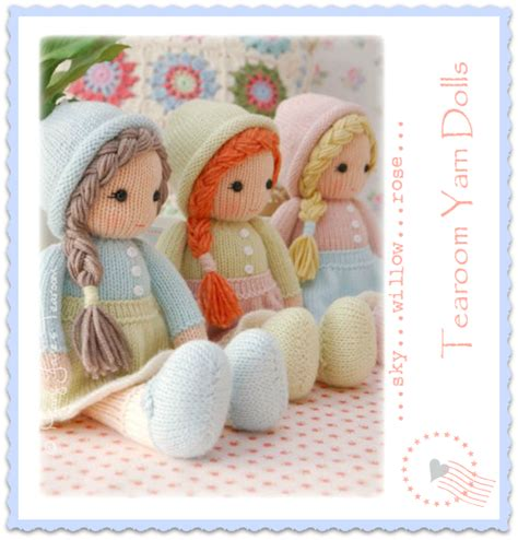 pattern for yarn doll mary jane s tearoom little yarn dolls knitting pattern