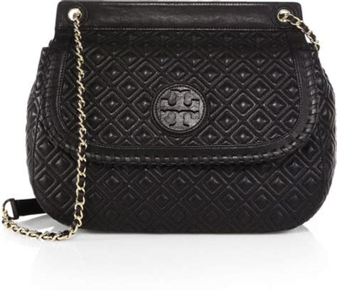 Burch Marion Quilted Shoulder Bag by Burch Marion Quilted Saddle Shoulder Bag In Black Lyst