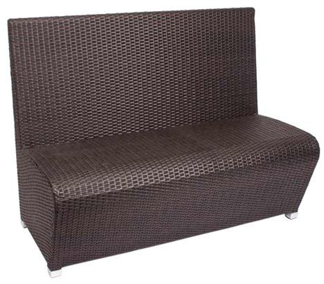 outdoor booth bench cancun outdoor booth bench java synthetic wicker