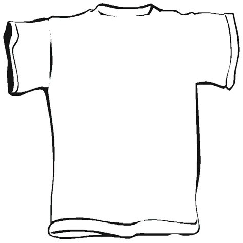 T Shirt Outline Back by T Shirt Back Template Clipart Best