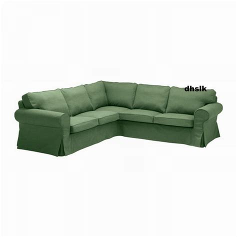 corner couch covers ikea ektorp 2 2 corner sofa cover slipcover svanby green