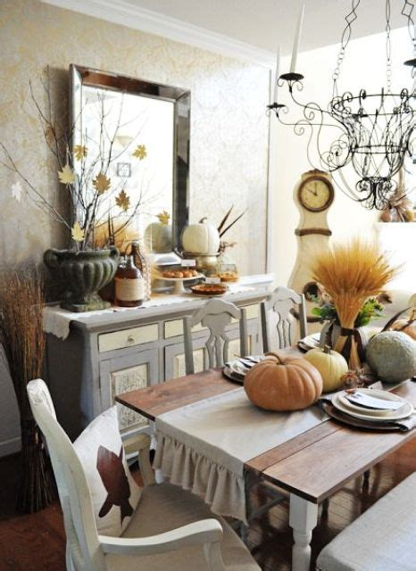 30 Beautiful And Cozy Fall Dining Room D 233 Cor Ideas Digsdigs Decorating Ideas Dining Room