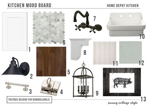Kitchen Inspiration Mood Board Remodelaholic Cottage Style Kitchen Entirely From Home