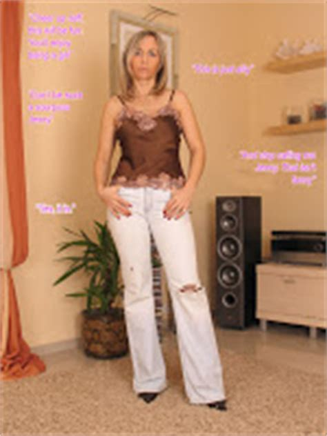 she feminized her husband titillating tg captions ann makes the most of a girly