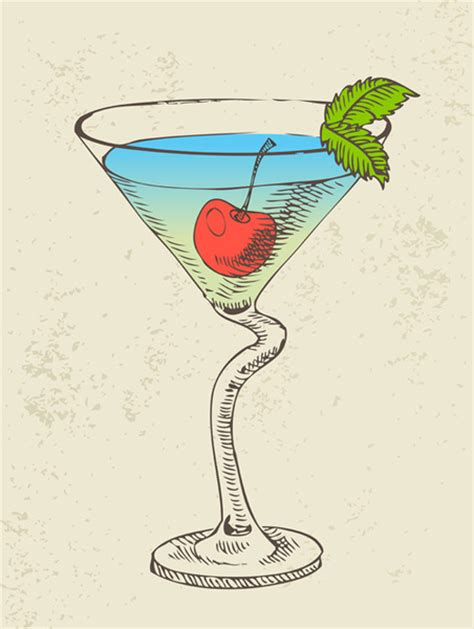 retro cocktail retro cocktail design vector set free vector in