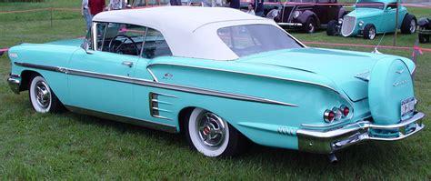 1958 chevrolet impala convertible aqua rear