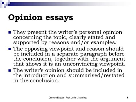 how to write an opinion paper the opinion essay
