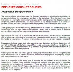 sample human resources policies sample procedures for