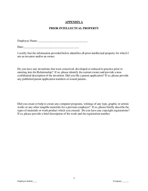 proprietary information  intellectual property assignment agreement