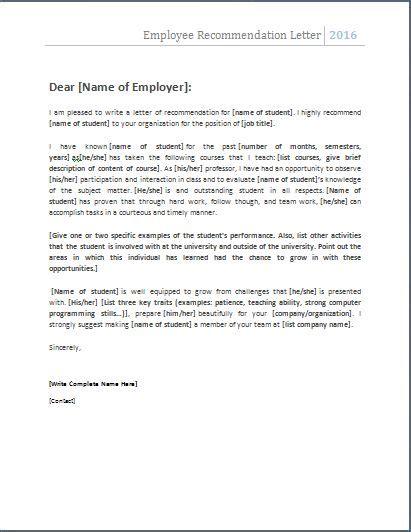 employee recommendation letter sle best 25 employee recommendation letter ideas on