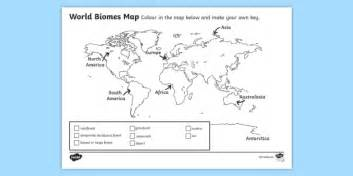 World Biomes Map Colouring Activity Sheet Biomes Colour Where Is The Arctic Earth Coloring Page