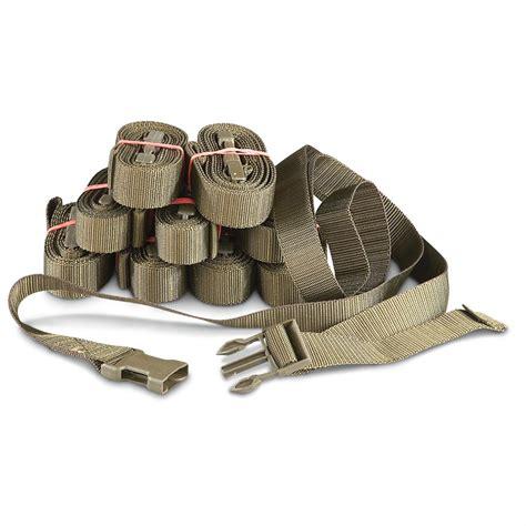 swiss surplus 10 new swiss surplus web straps brown 292714