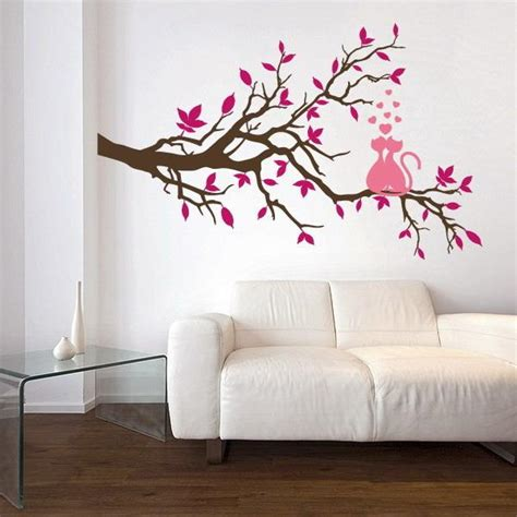wall design painting 21 charming interior decorating ideas with cat stickers and painted designs