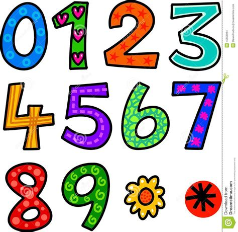 doodle numbers set of doodle numbers stock illustration image 45565964