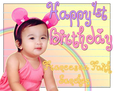 layout design for 1st birthday 1st birthday of liza s daughter by rvintot on deviantart