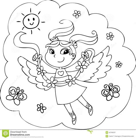 coloring pages rainbow fairies coloring rainbow fairy girl stock illustration image