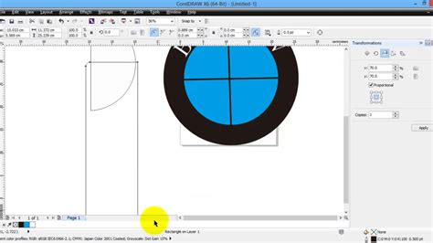 membuat logo di corel x6 tutorial cara membuat logo bmw pake corel draw how to