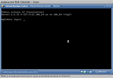 tutorial remastering linux fedora what is a keyboard shortcut to open a terminal window in